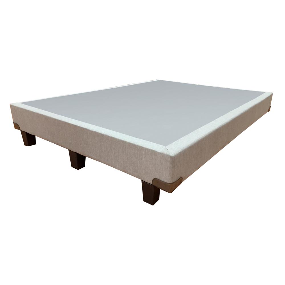 Base (Box) Selther Agatha Lino gris Individual