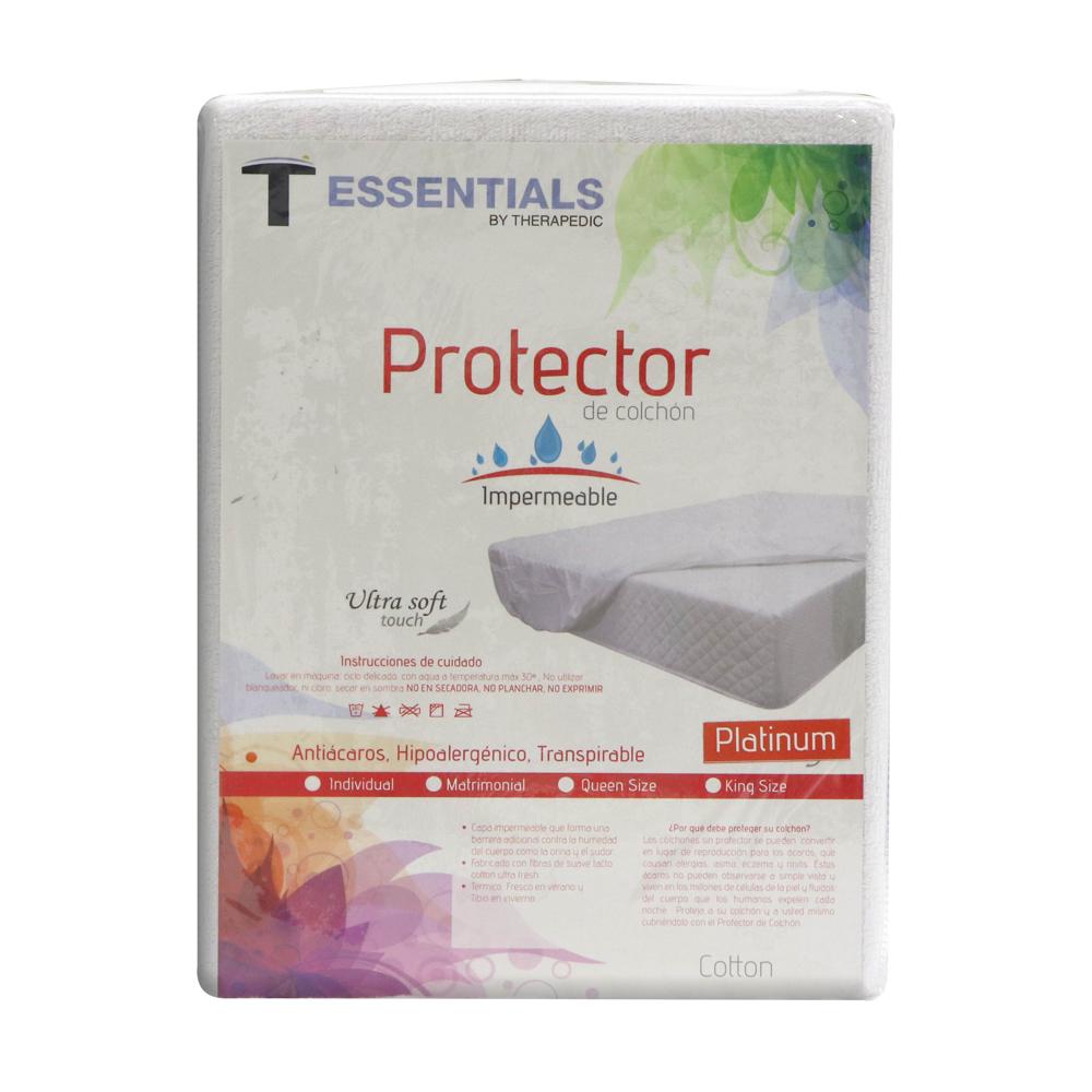 Protector-de-colchon-Therapedic-Platinum-blanco-colchonera
